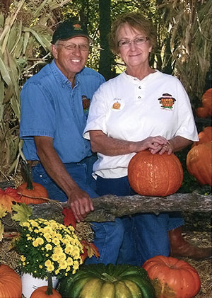 Becky and Carroll Walters, owners of Walters Pumpkin Patch, Corn Maze and Farm, Burns, Kansas.