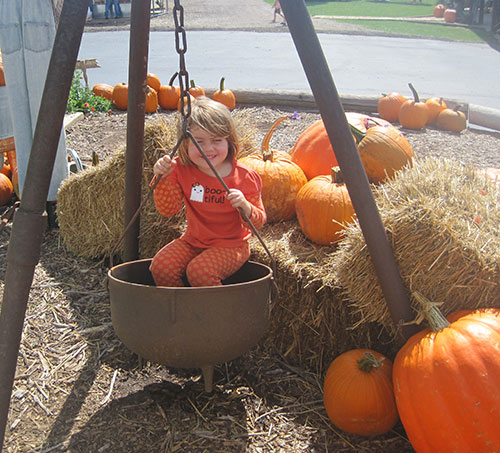 The Walters' Farm Pumpkin Patch and Corn Maze near Wichita, Kansas is full of great photo opportunities and family fun!