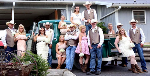 Share your vows on a real working farm for a true vintage farm wedding at The Walter's Farm near Wichita, Kansas!